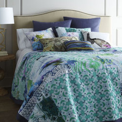 Tracy Porter Queen 'Ardienne' Collage-Print Quilt - This quilt is amazing. I love the teals, greens, blues and purples.
