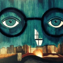 """The Eyes Of Dr. T.J. Eckleburg"" (Original) by Rebecca Sharp - This is a very large piece... designed to look like the billboard in ""The Great Gatsby""."