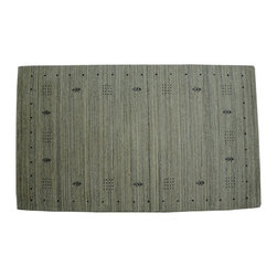 1800-Get-A-Rug - Oriental Rug Striped Lori Buft Gabbeh Hand Knotted Rug Sh10184 - About Modern & Contemporary