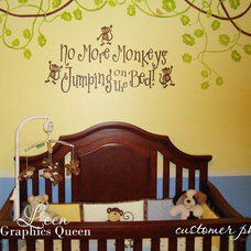 Wall Decals No More Monkeys Jumping on the Bed Wall Decal