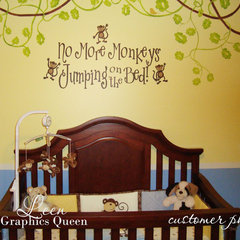 decals No More Monkeys Jumping on the Bed Wall Decal