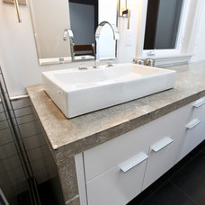 Contemporary Vanity Tops And Side Splashes by Reg Noël Design Inc.