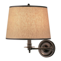 Robert Abbey - Robert Abbey Winston Swing Arm Sconce 2150 - Dark Natural Brass Finish over Metal
