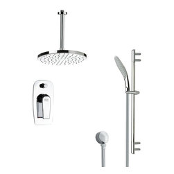 Remer - Sleek Round Rain Shower Faucet with Handheld Shower - Single function shower faucet.