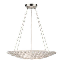 Fine Art Lamps - Constructivism Pendant, 843240ST - Cast your room in the right light with this dazzling, modern piece. Individually cast glass bubbles are fused to the shade and suspended by hand-applied silver-leaf cables. It's sure to add sparkle and polish to your room.