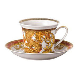 Versace - Versace Asian Dream Cappuccino Cup - Versace Asian Dream Cappuccino Cup    ***   Since the late 1970s the Versace brand has been synonymous with Italian luxury. For over 30 years their products have been known for uncompromising design as well as their sensual style and peerless craftsmanship. Many of our Versace Italian dinnerware sets are adorned with the famous medusa logo and offer a touch of Italian fashion and luxury to any meal. Shop our selection today to find a new porcelain dinner service that's sure to impress even the most persnickety guest.