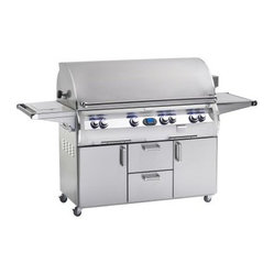 ... perfect sear marks on all your food. Dual recessed rotisserie burners