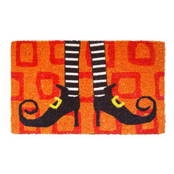 Entryways - Wicked Witch's Shoes Hand Woven Coconut Fiber Doormat - Designed by an artist, this distinctive mat is a work of art that will add a welcoming touch to any home. It is from Entryways' handmade collection and meets the industry's highest standards. This decorative mat is handsomely hand woven and hand stenciled.