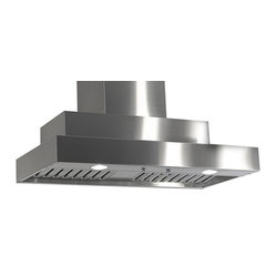 "Imperial - Imperial WH2048PS1-TWB-8 48; Wall Range Hood - Imperial WH2048Ps 1-TWB-8-SS Wall Range Hood w/ Baffle Filters 1100 CFM, stainless steel; white or black powder coat and stainless steel baffle. Two 8"" inch ducts 20-1/8"" inch depth (front/back). Front panel requires two 50 watt halogen lights (PAR 20);54 and 60 inch widths require four 50 watt halogen lights (PAR 20) in front panel. 115 AC, 60 HZ, 9 Amps  Suggested use with 15 Amp Circuit. Twin blowers. Independent control of variable fan speed and lighting intensity. 1.6 (low) - 4.6 (high)  Sones. 1100 ( CFM)"
