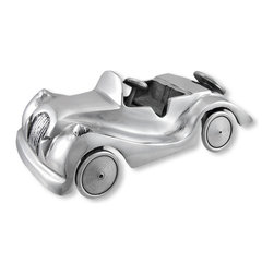 Zeckos - Cast Aluminum Vintage Automobile Statue Figure Car - Made of cast aluminum, this awesome antique automobile figure is great for anyone who loves vintage vehicles. It features a polished finish, and the wheels actually roll. It looks great on a bookshelf and on top of a desk or table. It measures 10 Inches Long, 4 3/4 Inches Wide, 3 3/4 Inches High.