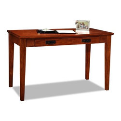 Leick - Riley Holliday Laptop Writing Desk - Perfect for laptops or to hide away papers or a desktop keyboard, this delicately scaled desk offers abundant organization assistance in just a tiny space. The drop down front presents the keyboard at a comfortable work height while full extension drawer guides offer the full depth of the drawer as useable space. Features: -Drop lid drawer front.-Wire retaining grommet on back of drawer.-Blackened mission drawer pulls.-Full extension ball bearing drawer guides.-Riley Holliday collection.-Distressed: No.-Collection: Riley Holliday.Dimensions: -Dimensions: 30'' Height x 48'' Width x 24'' Depth.-Overall Product Weight: 68 lbs.Assembly: -Features:.-Assembly required.Warranty: -Manufacturer provides one year warranty against manufacturing defects from the date of purchase.