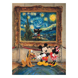 Disney Fine Art - Disney Fine Art Friends Of The Classics by Stephen Shortridge - Friends of the Classics by Disney Fine Art  -  Featuring Mickey & Minnie Mouse  -  Hand Signed By The Artist: Stephen Shortridge  -  Medium: Hand-Embellished on Pallet Knife Textured Canvas  -  Size: 24 Inches Tall x 18 Inches Wide  -  Limited To 95 Pieces World Wide Worldwide  -  Produced by Collector's Editions  -  Fully Authorized Disney Fine Art Dealer  -  Ships Rolled in a Tube  -  Featuring Mickey Mouse And Minnie