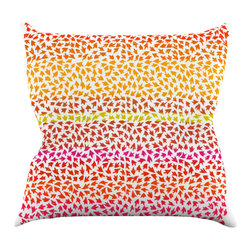 """Kess InHouse - Sreetama Ray """"Sunset Arrows"""" Red Abstract Throw Pillow (20"""" x 20"""") - Rest among the art you love. Transform your hang out room into a hip gallery, that's also comfortable. With this pillow you can create an environment that reflects your unique style. It's amazing what a throw pillow can do to complete a room. (Kess InHouse is not responsible for pillow fighting that may occur as the result of creative stimulation)."""