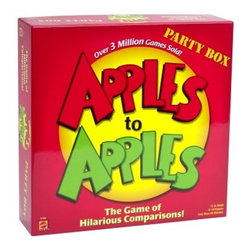 APPLES to APPLES PARTY BOX: The Game of Hilarious Comparisons! - There's nothing more fun than a board game for a family night in. Apples to Apples has become a classic and is sure to be a winner.
