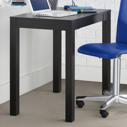 Ameriwood - Altra Writing Desk - Black - 9178196 - Shop for Desks from Hayneedle.com! The Ameriwood Altra Writing Desk - Black helps you create a stylish and efficient workspace. This compact contemporary desk features a classic Parsons design with a rectangular desktop and simple square legs. Great for a bedroom home office or den this desk features a convenient pull-out drawer for papers pencils and other office supplies. It's crafted from durable engineered wood and easy-to-clean laminate.About Ameriwood ProductsAmeriwood Industries is one of the leading manufacturers of wood products such as unassembled furniture stereo speaker cases and stereo component racks in the United States. For more than 30 years Ameriwood has helped furnish homes across North America with ready-to-assemble furniture. Crafted from engineered wood Ameriwood products are dense and durable for years of use.