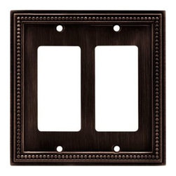 Liberty Hardware - Liberty Hardware 64403 Beaded WP Collection 4.96 Inch Switch Plate - The Beaded design adds elegance and sophistication to every room. The Venetian Bronze finish brings distinguished style and grace to any room. Quality zinc die cast base material. Available in the 10 most popular wall plate configurations. Width - 4.96 Inch, Height - 5 Inch, Projection - 0.3 Inch, Finish - Venetian Bronze, Weight - 0.43 Lbs.