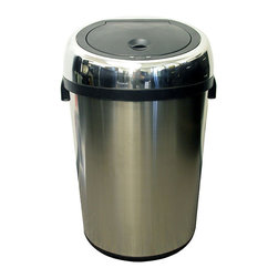 iTouchless - iTouchless Large Commercial Size Stainless Steel Automatic Sensor Trash Can, 23 - This 100% touch-free commercial size trash can creates a germ free, odor free, and automated environment. As your hand or debris approaches within 6 inches from the infrared sensor beam on top of the trash can, the lid will automatically opens, then closes as you walk away. It keeps your hands clean helping to prevent germ contamination, reducing the threat of illness and infections. This is great for use at home, as well as public areas such as hotels, medical clinics and offices, hospitals, laboratories, schools, or restaurants. The iTouchless Commercial Size Touchless Trash Can is easy to use and keeps both your hands and your environment clean.