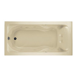 "American Standard - American Standard 2773.018WC.222 Cadet 6 x 36 EverClean Whirlpool,  Linen - American Standard 2773.018WC.222 Cadet 6x 36 EverClean Whirlpool,  Linen. This whirlpool features an acrylic construction with fiberglass reinforcement, a form fitted backrest, dual molded-in armrests with elbow supports, a pre-leveled tub bottom, dual accessory deck areas, an EverClean system that inhibits mold, mildew, and bacteria growth, a single-speed pump/motor, a side-mounted air switch (on/off), 2 silent air volume controls, a quick connect Safe-T-Heater connection system (heater sold separately), and an 8 jet system with multi-directional, flow adjustable jets. This model measures 6' by 35-3/4"" by 19-3/4"", and it comes with an EverClean system that inhibits the growth of bacteria, mold, and mildew."