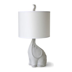 Jonathan Adler Utopia Elephant Lamp - Playful yet chic. I'd feel perfectly comfortable starting out with this elephant lamp in the nursery, then moving it into the living room when it came time to redecorate.