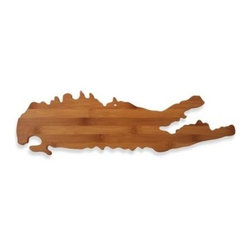 Totally Bamboo - Long Island Bamboo Cutting Board - Decorative and functional, this bamboo cutting board in the shape of Long Island is great for cutting and serving your favorite cheeses, appetizers and more.