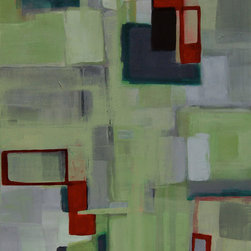 Abstract painting by Victoria Kloch, 'Cherry Tree Squared' - Title: Cherry Tree Squared