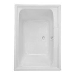 "American Standard - American Standard 2748.068C.020 Town Square EverClean Airbath,  White - American Standard 2748.068C.020 Town Square EverClean Airbath,  White. This airbath features an acrylic construction with fiberglass reinforcement, a tub-for-two design with center drain and dual backrests, dual molded-in armrests, dual integral faucet/accessory deck areas, a pre-leveled tub bottom, perfectly smooth air jets around the perimeter of the tub, a double-intensity lumbar back massage, an EverClean system that inhibits the growth of mold, mildew, and bacteria,  a variable speed air blower with heater, and a programmable automatic purge with timer. It measures 59-1/2"" by 41-5/8"" by 23""."
