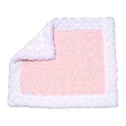 Belle & June - Baby Blanket, Light Pink and White - Ultra plush, soft and snugly, you'll wish there was an adult sized version of this two-toned baby blanket. Cuddly like a stuffed animal, this blankie works well on strollers, for cribs, or to wrap around your bundle of joy. The light pink/ white color combo goes with everything and makes a great shower gift too.