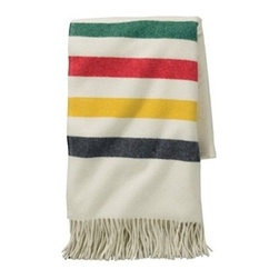 5th Avenue Glacier Park Throw - I love everything about this from the colorful stripes to the super soft wool this classic throw is made of.