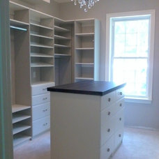 Traditional Closet by Custom Closets by Kenney-Moise, Inc.