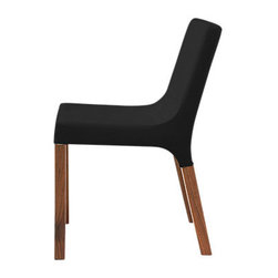 Blu Dot - Blu Dot Knicker Chair, Black - The Blu Dot Knicker Chair is a slender, solid dining chair with character and a nice range of upholstery options.