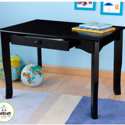 "KidKraft - Avalon Kids Rectangular Writing Table and Chair Set - Let your child's creativity soar. Perfect for an art project, game or tea party, KidKraft's Avalon Table make play - time easier to manage. With tapered legs that gently flare out to the floor, and a large central drawer for storing important supplies, the 24.5"" H table is designed to accommodate the growing child. Features: -Avalon collection. -One central drawer perfect for storage. -Sturdy hardwood construction for durability. -Dimensions: 24.5"" H x 24"" W x 36"" D."