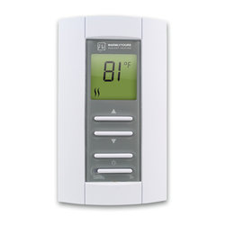 Warmly Yours - Thermostat EasyStat - The EasyStat dual voltage non-programmable thermostat is easy to use with no programming required. Just enter the floor temperature you desire and enjoy. Available in 15 AMP at 120V and 240V configurations, this floor heating control is dual voltage. For installations utilizing more than 240 square feet of electric radiant floor heating product, a Master Thermostat with Power Module or a Relay Contactor is also required.