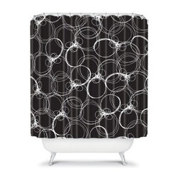 DENY Designs Rachael Taylor Circles Shower Curtain - With the DENY Designs Rachael Taylor Circles Shower Curtain hanging around, your bathroom will never be dull again. Useful and attractive, this American-made shower curtain has a designer print to dazzle your guests. So go ahead and lather up in style with this shower curtain in your home.About DENY DesignsDenver, Colorado based DENY Designs is a modern home furnishings company that believes in doing things differently. DENY encourages customers to make a personal statement with personal images or by selecting from the extensive gallery. The coolest part is that each purchase gives the super talented artists part of the proceeds. That allows DENY to support art communities all over the world while also spreading the creative love! Each DENY piece is custom created as it's ordered, instead of being held in a warehouse. A dye printing process is used to ensure colorfastness and durability that make these true heirloom pieces. From custom furniture pieces to textiles, everything made is unique and distinctively DENY.