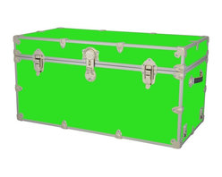 Artisans Domestic - Storage Toy Box in Lime (44 in. L x 24 in. W x 22 in. H (69 lbs.)) - Choose Size: 44 in. L x 24 in. W x 22 in. H (69 lbs.). Include small ventilation holes and specially designed, American made two soft-close lid supports. Retro style. Artisans domestic superior quality and heavy-duty. Handcrafted and kid friendly. Designed for a child's well-being. Lined with cabinet grade birch. Heavy gauge steel trim and corner pieces. Leather strap handles for moving easily. Hasp for padlock. Waterproof, dent and scratch resistant. Made from 1000 denier cordura sheathing, baltic birch and laminate. Made in USASafety First! yet looks handsome in any room. This treasure chest incorporates several safety features. They are even strong enough to stand on! Now that's a great toy box!