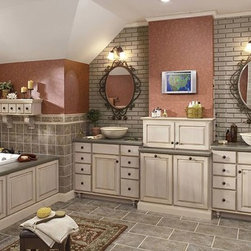 Our custom cabinetry - The bathroom re-invented... Merillat custom cabinetry - designer features.  Build new or renovate with Ward Home Services