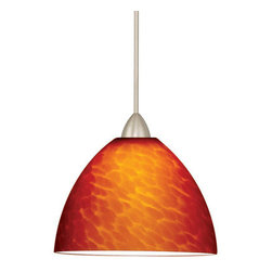 WAC Lighting - WAC Lighting MP-LED541-AM LED Monopoint Faberge Pendant with Amber Glass - Canop - WAC Lighting MP-LED541 LED Monopoint Faberge PendantNeutral Amber and White colorations, combined with a classic profile, offer pendants for contemporary, traditional or transitional spaces.�Features: