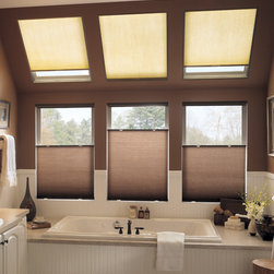 Bali - Bali SkyTrack 3/8-inch Double Cell Daybreak II Skylights - Cover your skylight windows with Bali's popular Daybreak II cellular shade material for a coordinated look with your other windows.