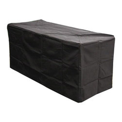 Outdoor Great Room - Outdoor Great Room Rectangle Vinyl Cover for Key Largo Midnight Mist Fire Pit - Protect your Key Largo or Artisan Fire Pit Table with this specially designed Rectangular Vinyl Fire Pit Table Cover. Rectangular Vinyl Cover for Key Largo w/Midnight Mist Top, Black vinyl cover, Protects fire pit with a generous fit and rugged design and material
