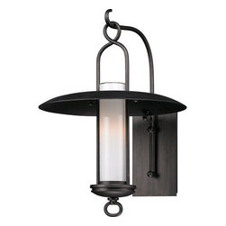 """Troy Lighting - Troy Lighting B3332 Carmel 1 Light 18"""" Outdoor Wall Lantern Sconce - Troy Lighting B3332 Carmel 1 Light 18.25"""" High Outdoor Wall SconceThe Carmel Collection features wide brimmed rain shades, wrought iron hangers and beautiful Opal White glass diffusers.Troy Lighting B3332 Features:"""