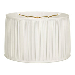Royal Designs, Inc. - Shallow Drum Gather Pleat Basic Lampshade - This Shallow Drum Gather Pleat Basic Lampshade is a part of Royal Designs, Inc. Timeless Basic Shade Collection and is perfect for anyone who is looking for a traditional yet stunning lampshade. Royal Designs has been in the lampshade business since 1993 with their multiple shade lines that exemplify handcrafted quality and value.