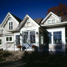 Traditional Exterior by Sharratt Design & Company