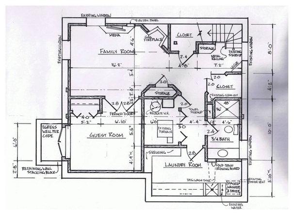 Contemporary Floor Plan Basement of the Week: Modern Lower Level