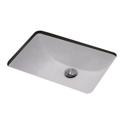 American Imaginations - 19-in. W x 14-in. D CUPC Certified Rectangle Undermount Sink - It features a rectangle shape. This undermount sink is designed to be installed as an undermount undermount sink. It is constructed with ceramic. This undermount sink comes with a enamel glaze finish in White color. This transitional undermount sink product is CUPC certified. CUPC approved rectangle undermount sink. CUPC approval is usually required in construction projects by city inspectors This Undermount Sink features Antique Brass hardware. Double fired and glazed for durability and stain resistance. Quality control approved in Canada and re-inspected prior to shipping your order