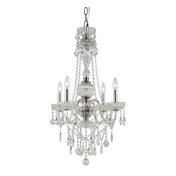 Trans Globe Lighting - Trans Globe Lighting HL-4 PC Traditional Crystal Chandelier - Trans Globe Lighting HL-4 PC Traditional Crystal Chandelier
