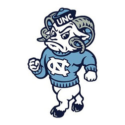 York Wallcoverings - North Carolina Tar Heels 24pc College Wall Accent Stickers - Features: