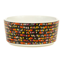 Waggo - Splatter Dog Bowl, Charcoal - Get ready for Spring with our fun Splatter Dog Bowls! Your dog is sure to love the light pink or charcoal colors.