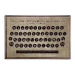 John Kowalski - John Kowalski Antique Keyboard Vintage Wall Art X-00613 - This frameless, giclee artwork on hardboard provides a high degree of fine detailing.