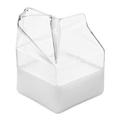 Glass Milk Carton Creamer - I'm a huge fan of playful kitchen pieces, such as these glass cartons. They make the everyday a little more interesting.