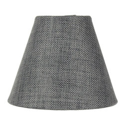 3x6x5 Granite Gray Burlap Chandelier Lamp Shade - Home Concept Signature Shades feature the finest premium hardback parchment.