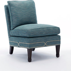 Thom Filicia Collection - This custom-made piece features an accent of Small Brushed Nickel nailheads.